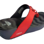 ADDA Coral2 Red Black Eva Cushion Thong Washable Casuals Slippers