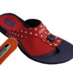 ADDA Touch 5 Lady's Navy Red EVA Thong Washable Casuals Slippers