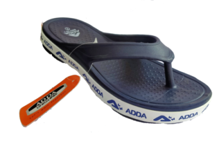 ADDA Alltime Navy  Lady's EVA Thong Washable Casuals Slippers