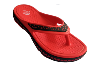 ADDA Everytime Red Lady's EVA Thong Washable Casuals Slippers