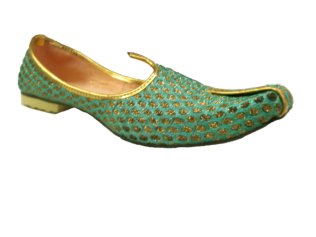 Jutti Golden Cyan for classics, Indio westerns & Ethnic-wear